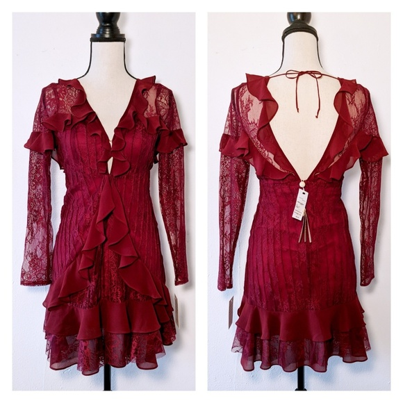 b4cd5f30a149b For Love And Lemons Dresses | Nwt For Love Lemons Daphne Lace Mini ...